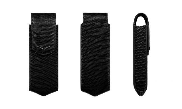 BLACK LIZARD VERTICAL CASE WITH BLACK PVD