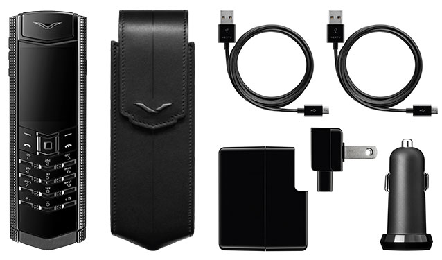 Vertu Signature S Clous De Paris Pure Black mới 07
