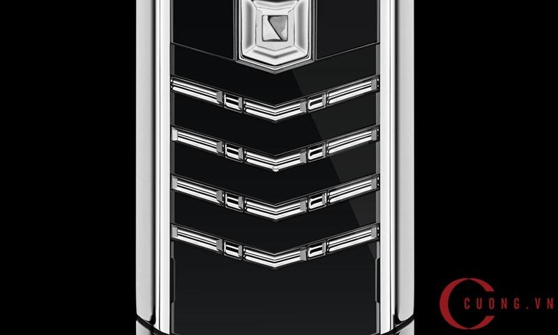 Vertu Signature S Black Alligator Stainless Steel mới 03
