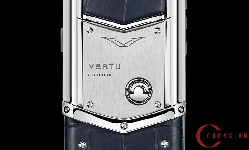 Vertu Signature S Navy Alligator mới 02
