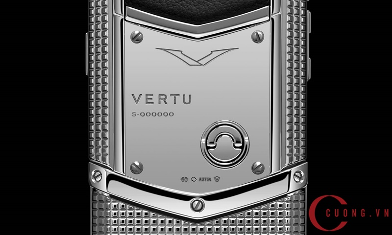 vertu signature s clous de paris stainless steel mới 02