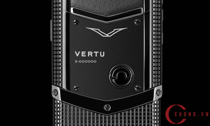 Vertu Signature S Clous De Paris Pure Black mới 02