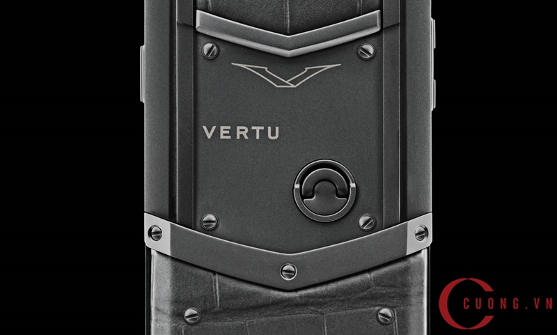 Vertu Signature S Zirconium Alligator mới 02