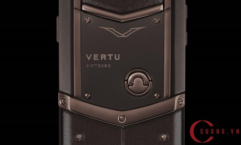 Vertu Signature S Pure Chocolate Stainless Steel mới 02