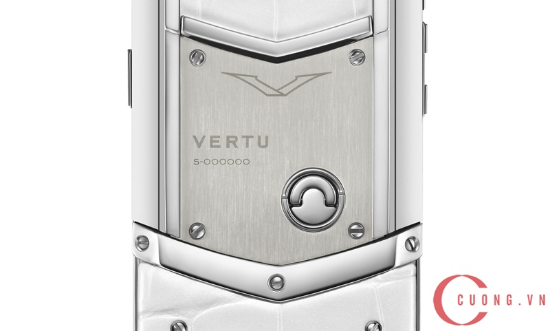 Vertu Signature S White Mother Of Pearl mới 02