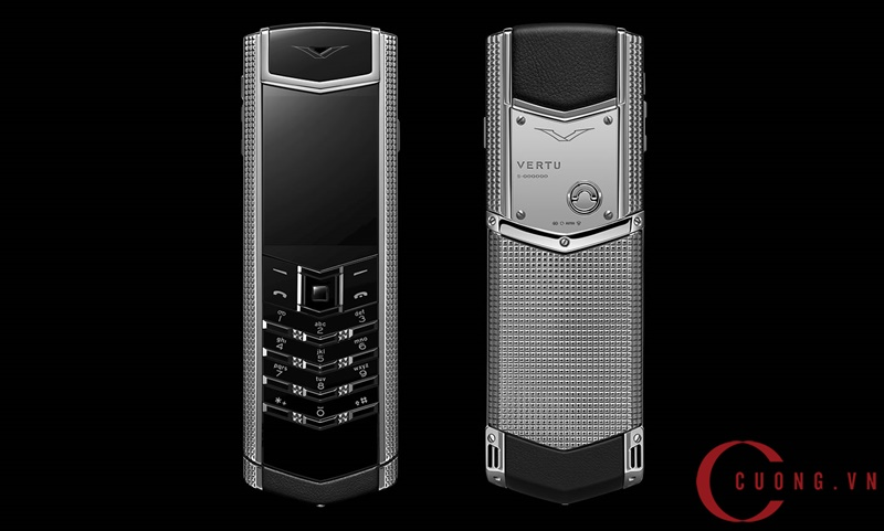 Vertu Signature S Clous De Paris Stainless Steel mới 01