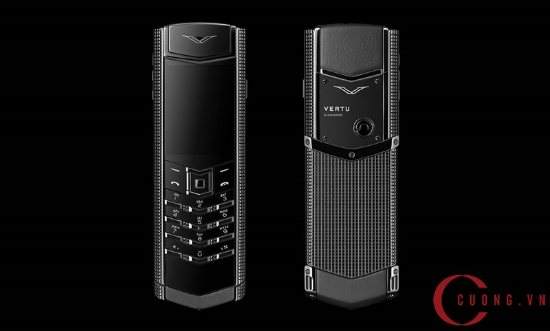 Vertu Signature S Clous De Paris Pure Black mới 01
