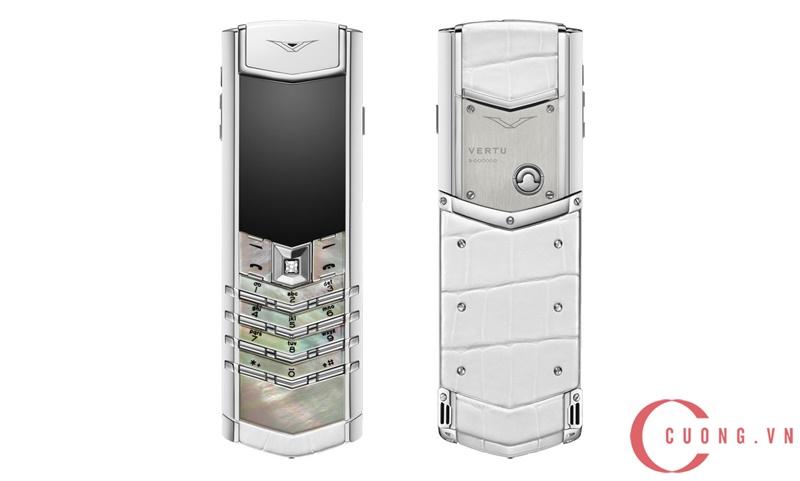 Vertu Signature S White Mother Of Pearl mới 01