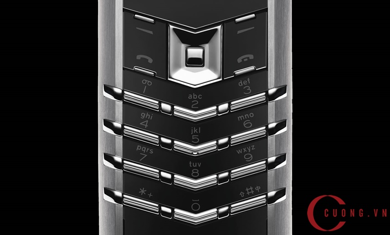 vertu signature s stainless steel black leather mới 03