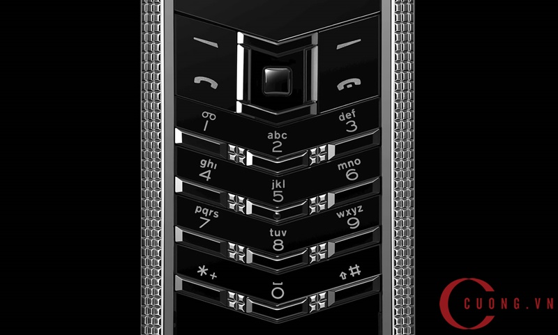 vertu signature s clous de paris stainless steel mới 03