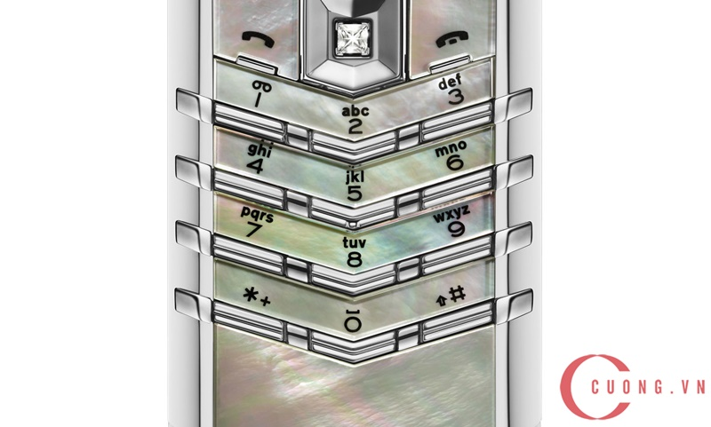 Vertu Signature S White Mother Of Pearl mới 03