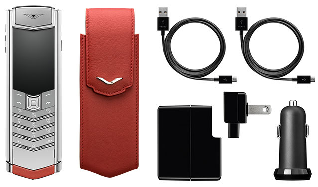 vertu signature s red calf mới 07